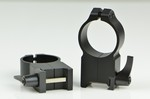 WARNE SCOPE RINGS 30mm, ULTRA HIGH HEIGHT, QUICK DETACH, BLK 217LM