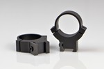 WARNE SCOPE RINGS 1 in, HIGH HEIGHT, GROOVED REC., MATTE BLK 722M