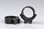 WARNE SCOPE RINGS 30mm, MED. HEIGHT, GROOVED REC., MATTE BLK 731M