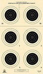50 YD SMALLBORE RIFLE TARGET (6 BULL)(100) A236