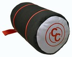 CC RED/GRAY/BLACK KNEELING ROLL - FILLED W/ PLASTIC BEADS CC1402