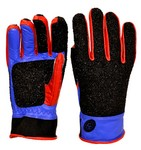 CC DELUXE FULL FINGER SHOOTING GLOVE-RED/BLUE (LG-RHS) CC190L