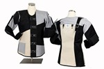 CC JUNIOR ISSF BLK/GRAY/WHT SHOOTING COAT (LARGE - RIGHT) CC845L