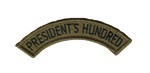 PRESIDENT'S 100 SEW-ON TAB(SUBDUED) P100S