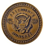 PRESIDENT'S 100 BELT BUCKLE (BRONZE) PB200