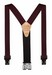 "!!DISC!!1.5"" ""PERRY"" HOOK ON SUSPENDERS 48"" (BURGUNDY) SN200B"