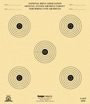 !DISC! KRUGER A-44/5 15ft SPRING-TYPE AIR RIFLE TARGETS(250) A445K250