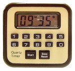 CC COUNT-DOWN/UP TIMER w/BUZZER (BROWN) CL098