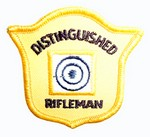 DISTINGUISHED RIFLE GOLD SEW-ON PATCH RG50